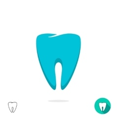 Tooth logo symbol isolated flat outline vector image vector image
