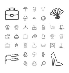 37 accessory icons vector
