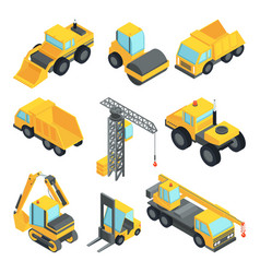 3d transport for construction industry vector