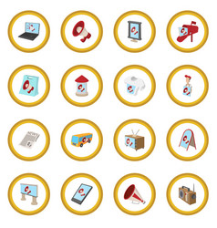 Advertisement icon circle vector