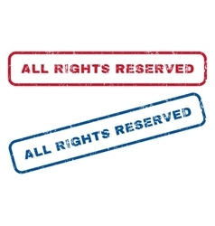 All Rights Reserved Rubber Stamps vector image