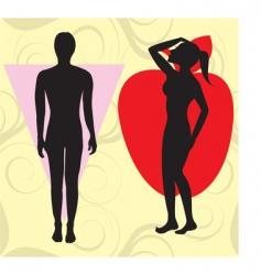 apple cone bodyshapes vector image