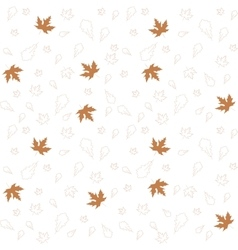 Autumn leaves of maple and oak seamless pattern vector