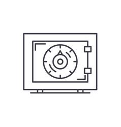 bank money safe line icon concept bank money safe vector image