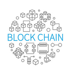 Block chain round concept outline vector