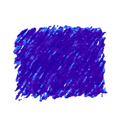 Blue pen scribble texture stain isolated on white vector
