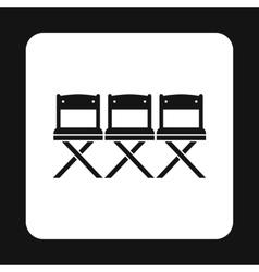 Cinema seats icon simple style vector