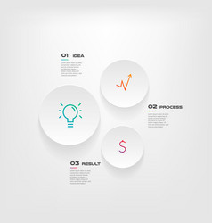 circle gradient icons infographics step by step vector image