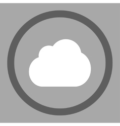 Cloud flat dark gray and white colors rounded vector image