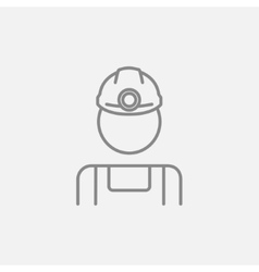 Coal miner line icon vector image