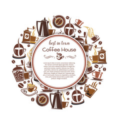 Coffee hot drink poster for cafe and shop design vector