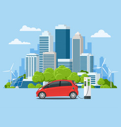 concept eco-city and suburban life vector image