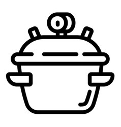 Cooker icon outline style vector