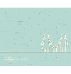 Creative family Art template vector