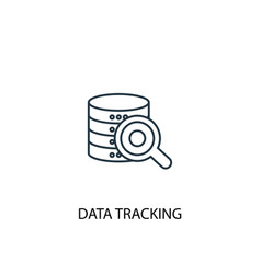 Data tracking concept line icon simple element vector