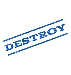 Destroy Watermark Stamp vector