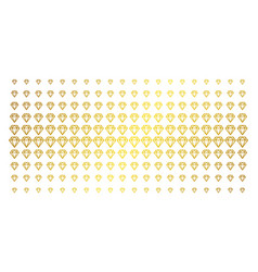 diamond gold halftone matrix vector image