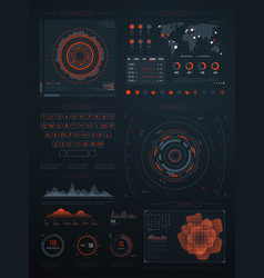 Digital futuristic hud virtual interface vector
