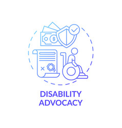 Disability advocacy concept icon vector