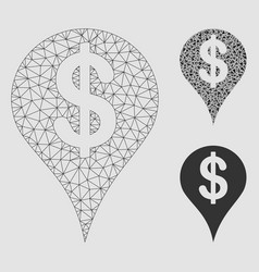 Dollar map marker mesh network model and vector
