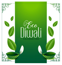 Eco friendly green diwali concept background with vector