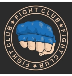 emblem about fighting club monochrome graphic vector image
