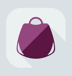 Flat modern design with shadow icon womens handbag vector