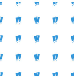 flippers icon pattern seamless white background vector image