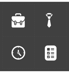 Four Modern flat social icons set vector image