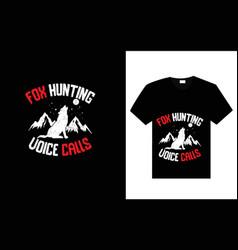Fox hunting drawn t-shirt design vector