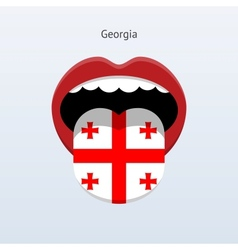 Georgia language Abstract human tongue vector image