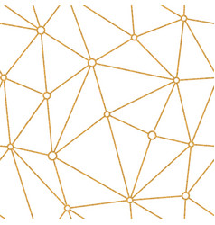 Gold triangle pattern vector