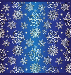 gradient winter seamless christmas dark blue vector image