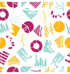 graphs icons seamless color pattern eps10 vector image vector image