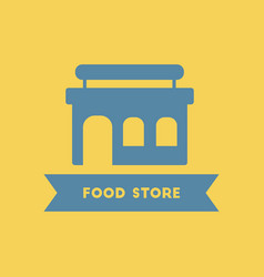 Grocery store building food store vector