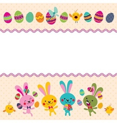 Happy Easter greeting card 4 vector image