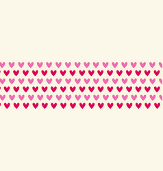 hearts horizontal banner valentine day holiday vector image