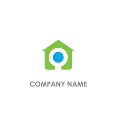 House realty sign business logo vector