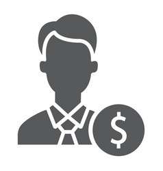 investor glyph icon finance and banking vector image