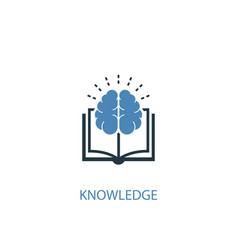 knowledge concept 2 colored icon simple blue vector image