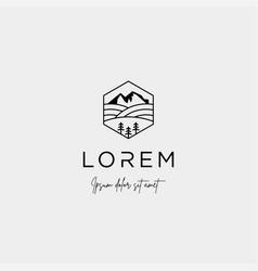 Landscape logo design for landscaping icon vector