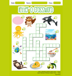 letter o crossword template vector image