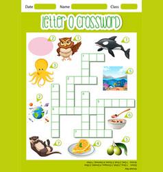 Letter o crossword template vector