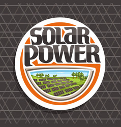 logo for solar power vector image