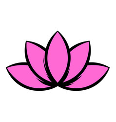 lotus flower icon icon cartoon vector image
