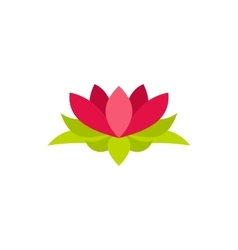 Lotus flower icon in flat style vector