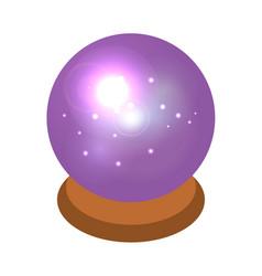 magic sphere icon isometric style vector image
