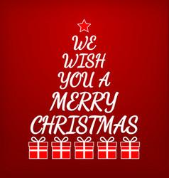 Merry Christmas Greeting card Christmas tree vector