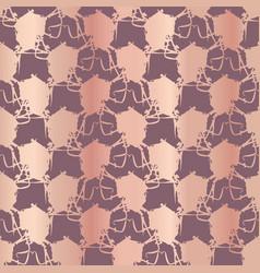 metallic rose gold polka dots pattern seamless vector image
