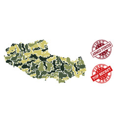 Military camouflage collage of map of tibet and vector